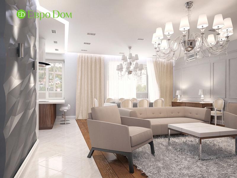 Дизайн 4-комнатной квартиры 192 кв. м в стиле классицизм. Фото 02