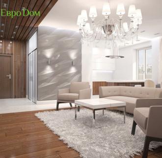Дизайн четырехкомнатной квартиры 192 кв. м в стиле классицизм. Фото проекта