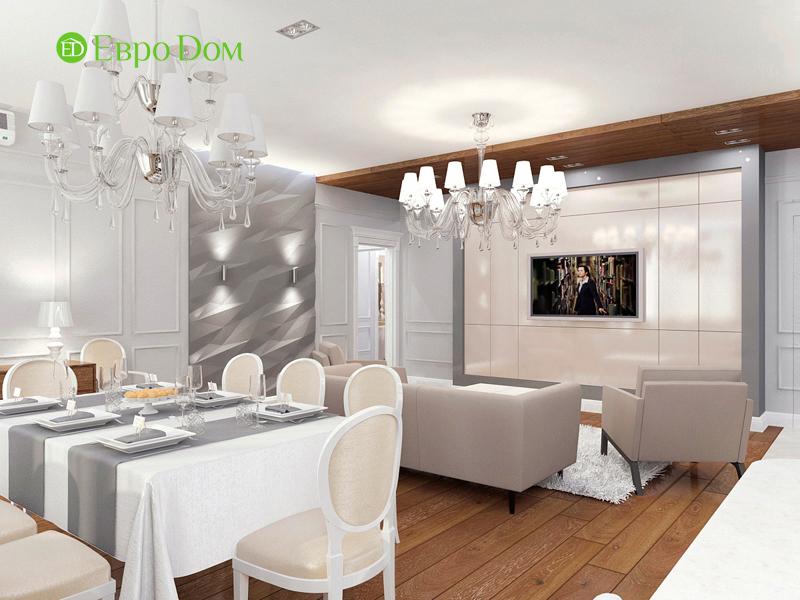 Дизайн 4-комнатной квартиры 192 кв. м в стиле классицизм. Фото 06