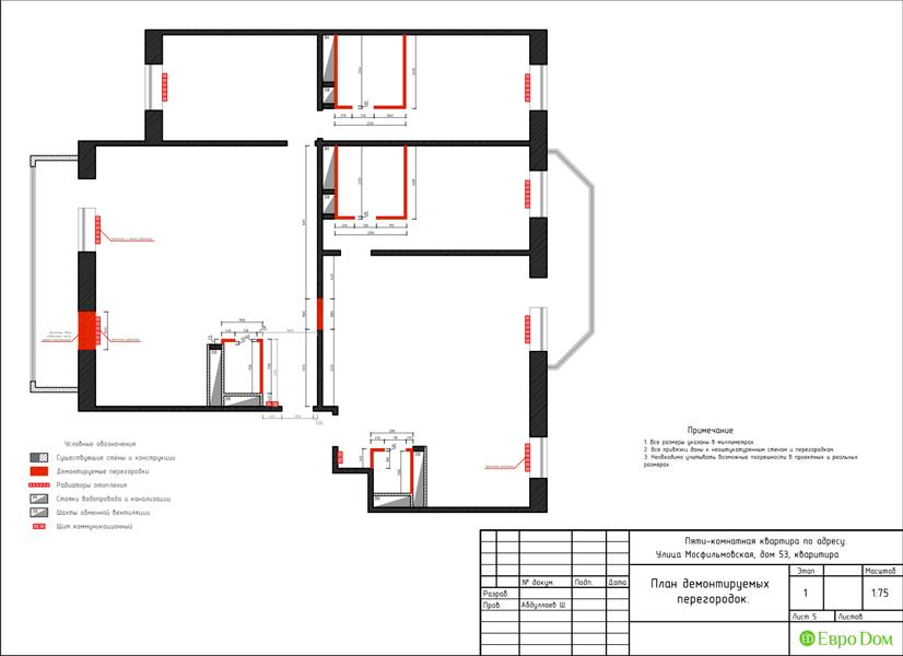 Дизайн 4-комнатной квартиры 192 кв. м в стиле классицизм. Фото 035