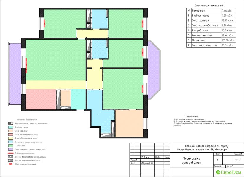 Дизайн 4-комнатной квартиры 192 кв. м в стиле классицизм. Фото 038