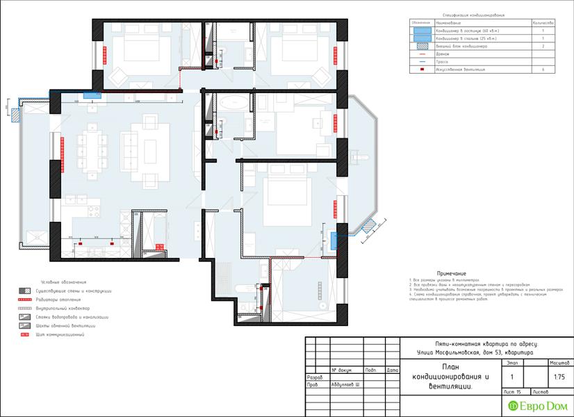 Дизайн 4-комнатной квартиры 192 кв. м в стиле классицизм. Фото 044