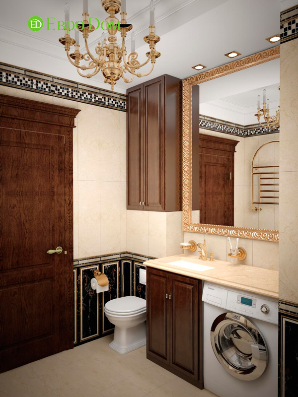 Дизайн 4-комнатной квартиры в стиле неоклассика. Фото 026