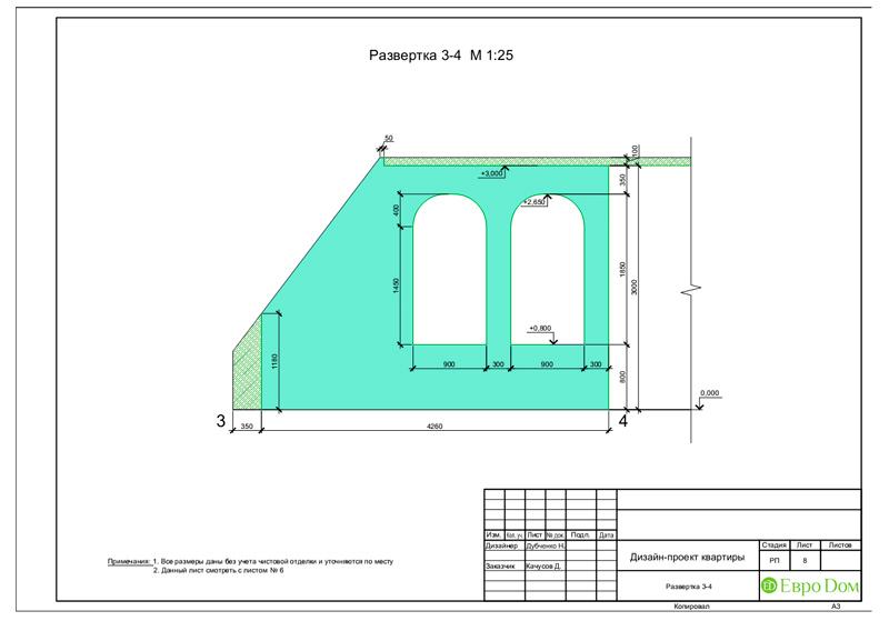 Дизайн 4-комнатной квартиры в стиле неоклассика. Фото 042