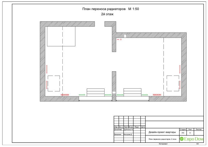 Дизайн 4-комнатной квартиры в стиле неоклассика. Фото 045