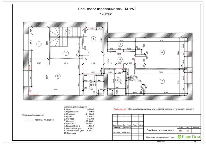 Дизайн 4-комнатной квартиры в стиле неоклассика. Фото 046