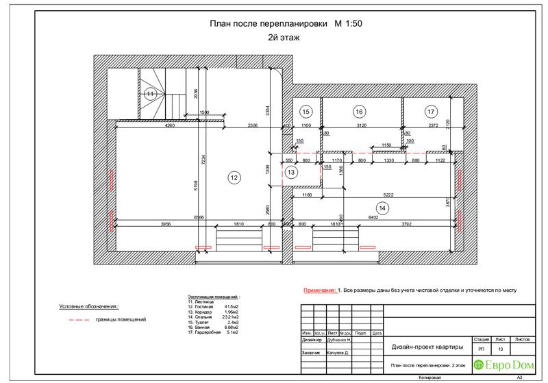 Дизайн 4-комнатной квартиры в стиле неоклассика. Фото 047