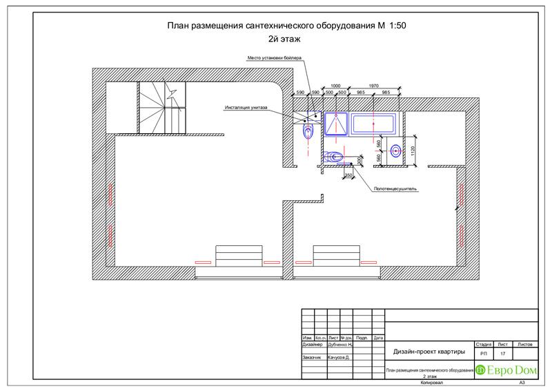 Дизайн 4-комнатной квартиры в стиле неоклассика. Фото 050