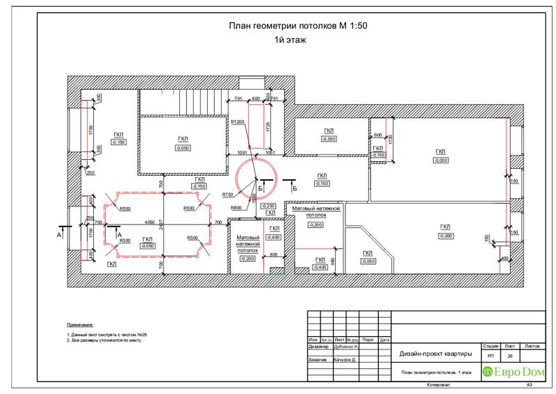 Дизайн 4-комнатной квартиры в стиле неоклассика. Фото 059