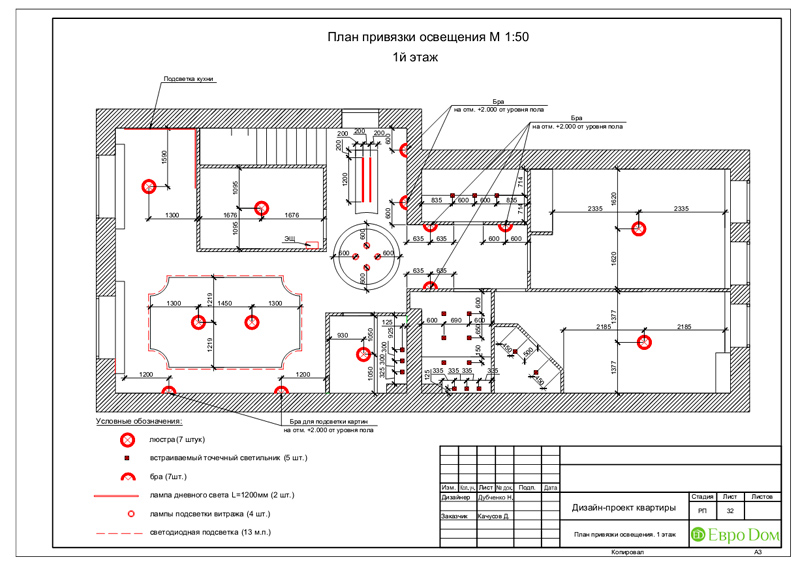 Дизайн 4-комнатной квартиры в стиле неоклассика. Фото 065