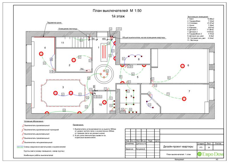 Дизайн 4-комнатной квартиры в стиле неоклассика. Фото 067
