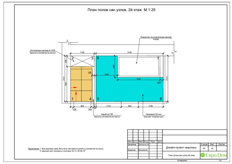 Дизайн 4-комнатной квартиры в стиле неоклассика. Фото 086