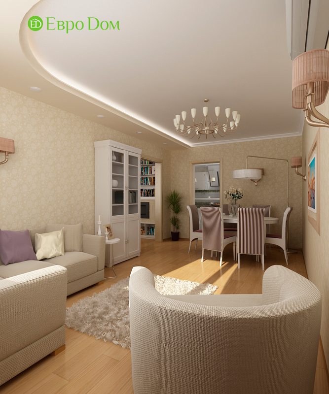 Дизайн 4-комнатной квартиры 95 кв. м в стиле прованс. Фото 010
