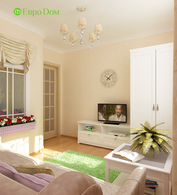 Дизайн 4-комнатной квартиры 95 кв. м в стиле прованс. Фото 025