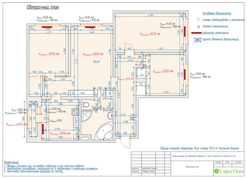 Дизайн 4-комнатной квартиры 95 кв. м в стиле прованс. Фото 027