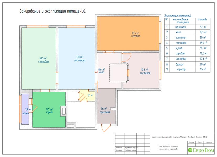 Дизайн 4-комнатной квартиры 95 кв. м в стиле прованс. Фото 029