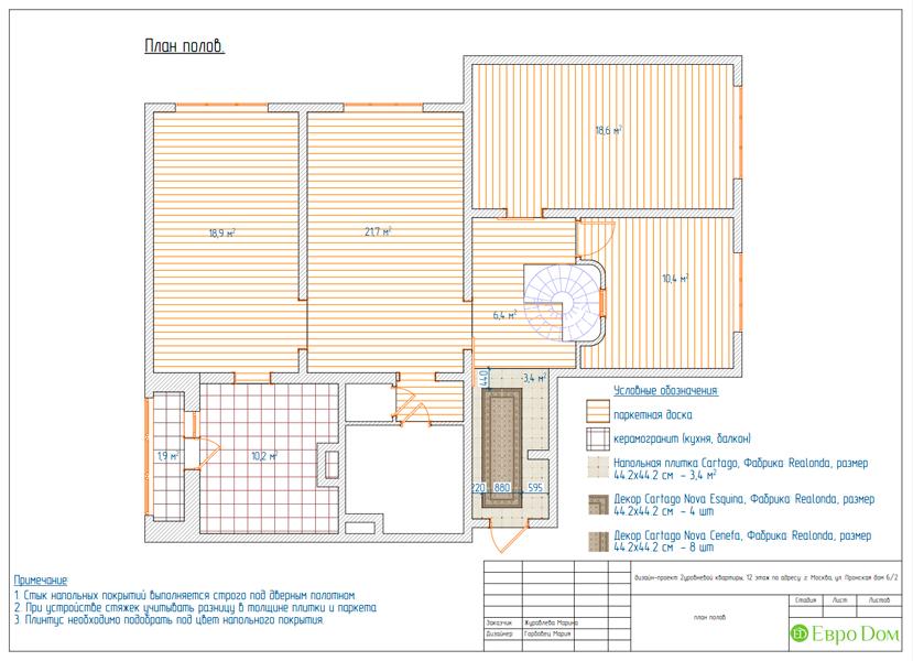 Дизайн 4-комнатной квартиры 95 кв. м в стиле прованс. Фото 032