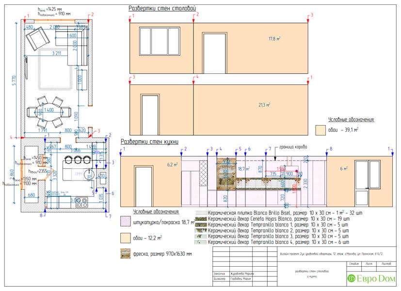 Дизайн 4-комнатной квартиры 95 кв. м в стиле прованс. Фото 043