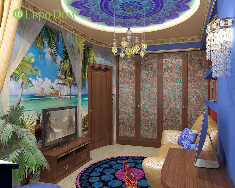Дизайн 2-комнатной квартиры 65 кв. м в индийском стиле. Фото 07