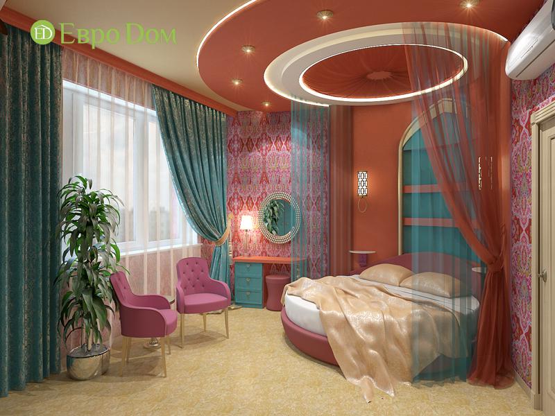 Дизайн 2-комнатной квартиры 65 кв. м в индийском стиле. Фото 09