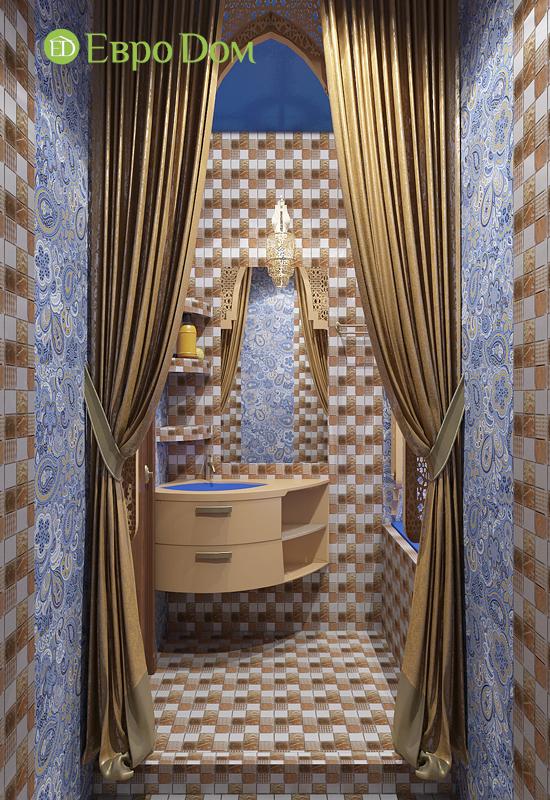 Дизайн 2-комнатной квартиры 65 кв. м в индийском стиле. Фото 011