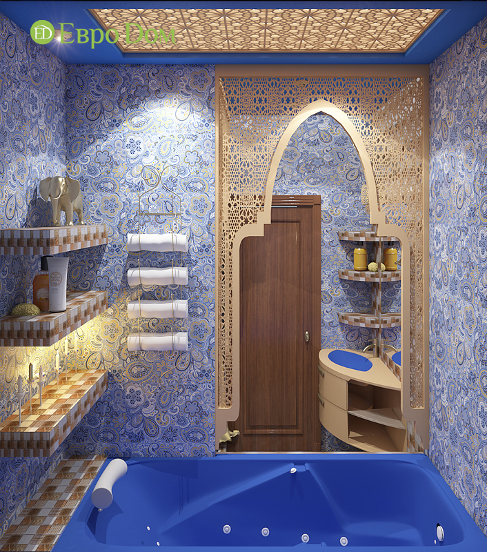 Дизайн 2-комнатной квартиры 65 кв. м в индийском стиле. Фото 012