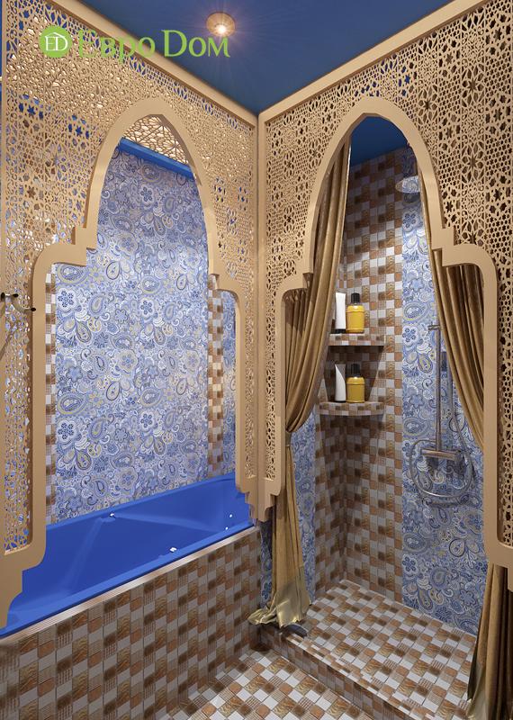 Дизайн 2-комнатной квартиры 65 кв. м в индийском стиле. Фото 013