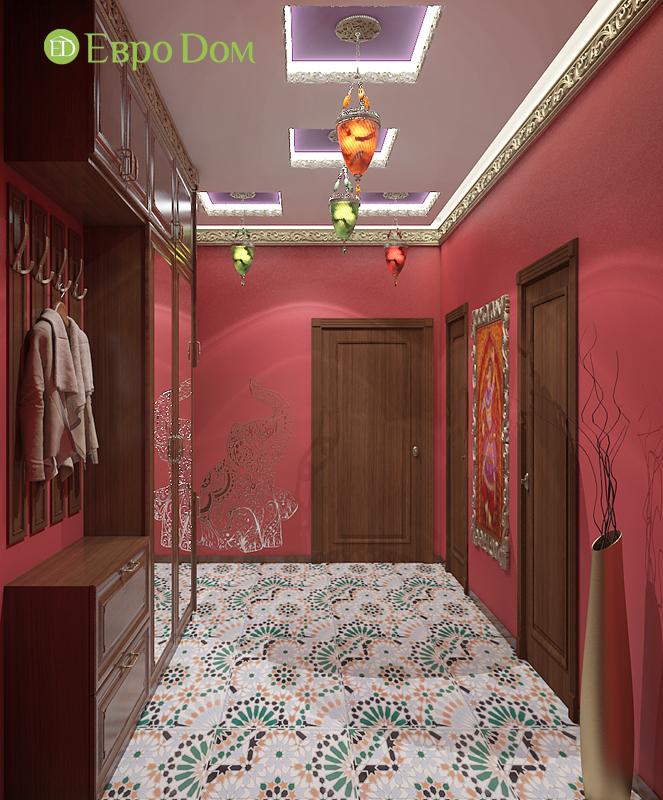 Дизайн 2-комнатной квартиры 65 кв. м в индийском стиле. Фото 014