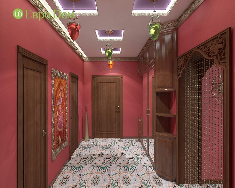 Дизайн 2-комнатной квартиры 65 кв. м в индийском стиле. Фото 015