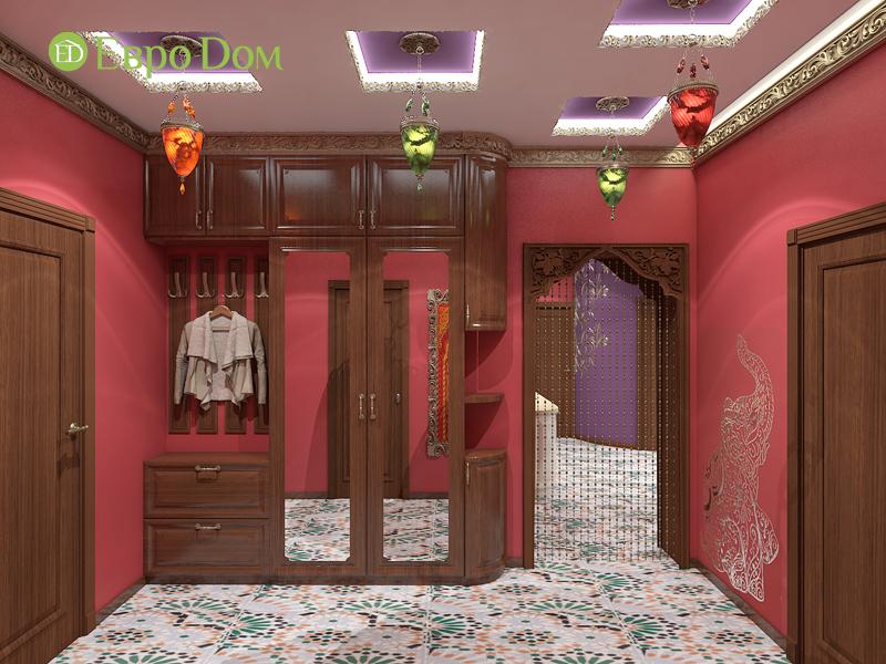 Дизайн 2-комнатной квартиры 65 кв. м в индийском стиле. Фото 016