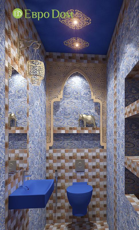 Дизайн 2-комнатной квартиры 65 кв. м в индийском стиле. Фото 017