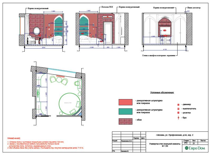 Дизайн 2-комнатной квартиры 65 кв. м в индийском стиле. Фото 039