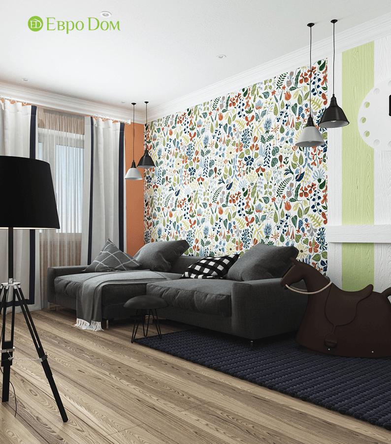Дизайн двухкомнатной квартиры 70 кв. м в скандинавском стиле. Фото 02