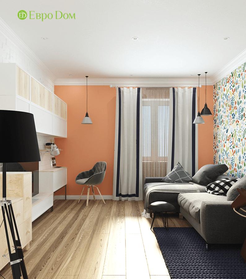 Дизайн двухкомнатной квартиры 70 кв. м в скандинавском стиле. Фото 08