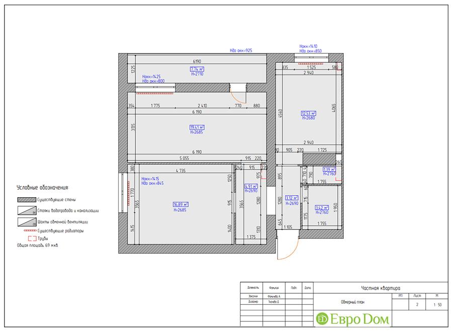 Дизайн двухкомнатной квартиры 70 кв. м в скандинавском стиле. Фото 016