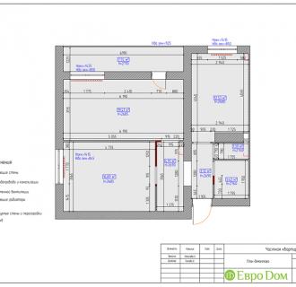 Дизайн двухкомнатной квартиры 70 кв. м в скандинавском стиле. Фото проекта