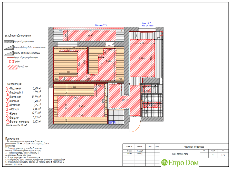 Дизайн двухкомнатной квартиры 70 кв. м в скандинавском стиле. Фото 023