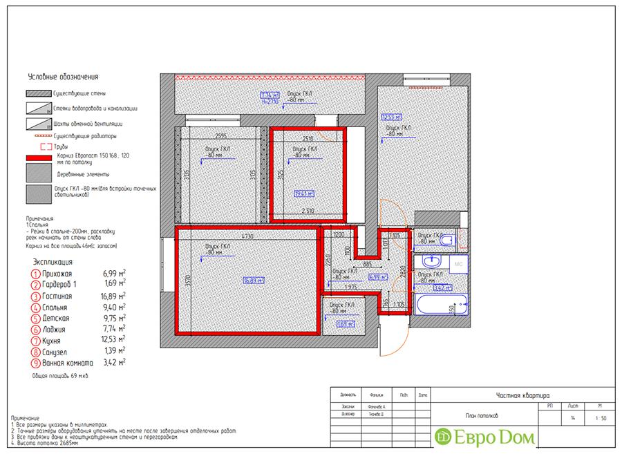 Дизайн двухкомнатной квартиры 70 кв. м в скандинавском стиле. Фото 028