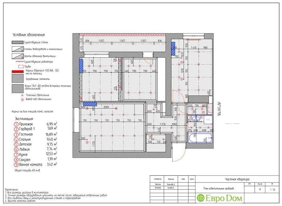 Дизайн двухкомнатной квартиры 70 кв. м в скандинавском стиле. Фото 029