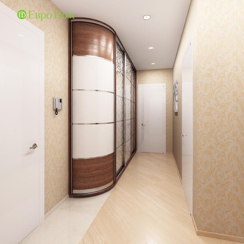 Дизайн двухкомнатной квартиры 68 кв. м в современном стиле. Фото 02