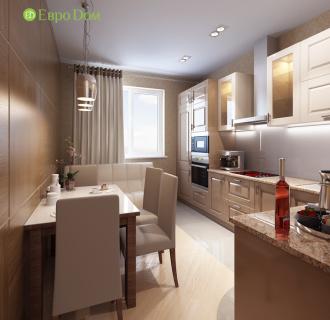 Дизайн двухкомнатной квартиры 68 кв. м в современном стиле. Фото проекта