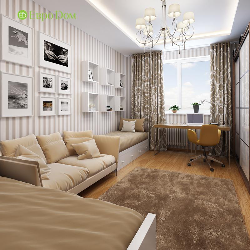 Дизайн двухкомнатной квартиры 68 кв. м в современном стиле. Фото 05