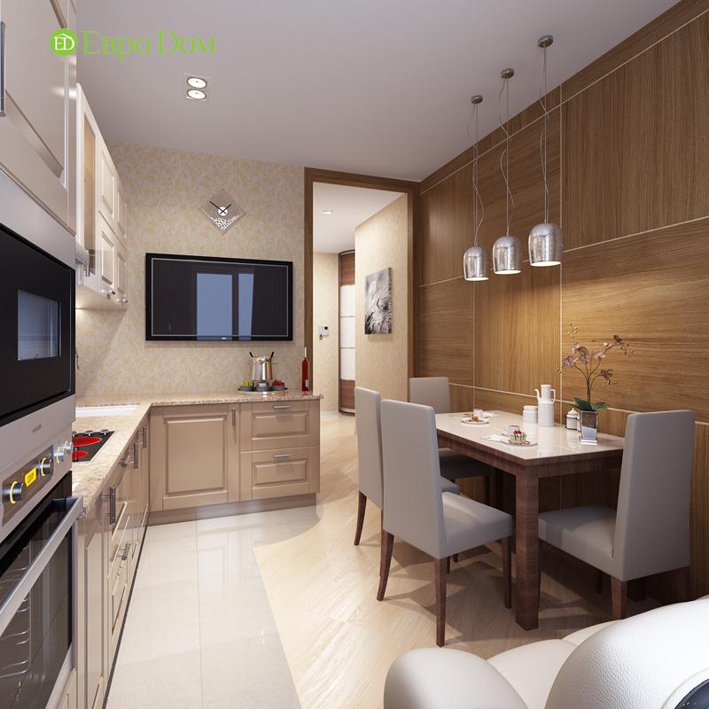 Дизайн двухкомнатной квартиры 68 кв. м в современном стиле. Фото 010
