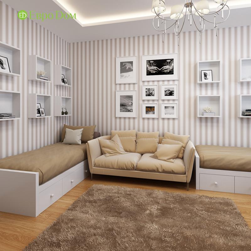 Дизайн двухкомнатной квартиры 68 кв. м в современном стиле. Фото 011