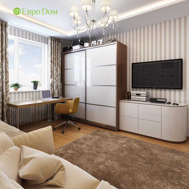Дизайн двухкомнатной квартиры 68 кв. м в современном стиле. Фото 012