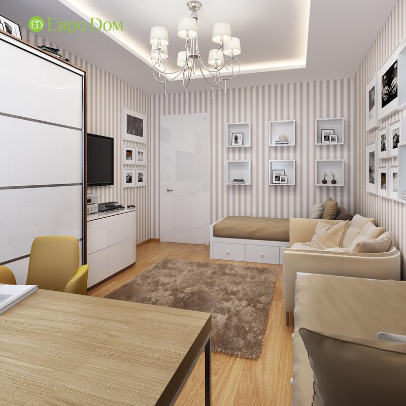 Дизайн двухкомнатной квартиры 68 кв. м в современном стиле. Фото 013