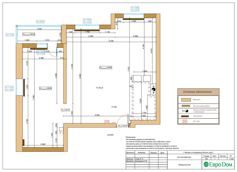 Дизайн двухкомнатной квартиры 68 кв. м в современном стиле. Фото 020