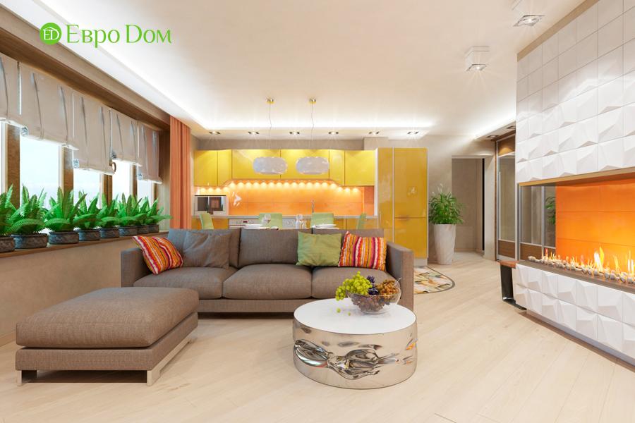 Дизайн двухкомнатной квартиры 65 кв. м в современном стиле. Фото 02