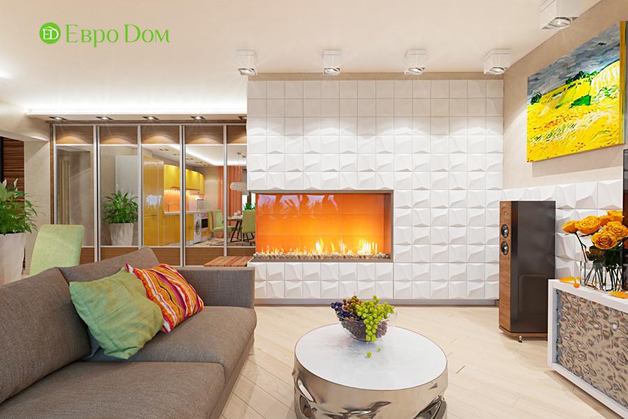 Дизайн двухкомнатной квартиры 65 кв. м в современном стиле. Фото 04