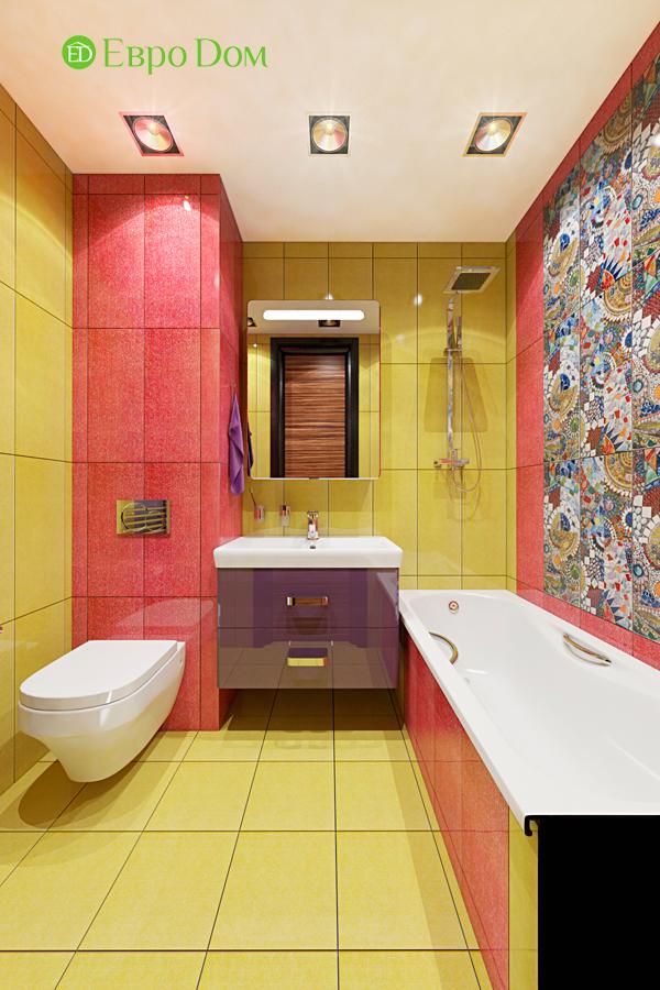 Дизайн двухкомнатной квартиры 65 кв. м в современном стиле. Фото 05